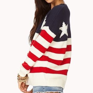 American Flag Knit Sweater